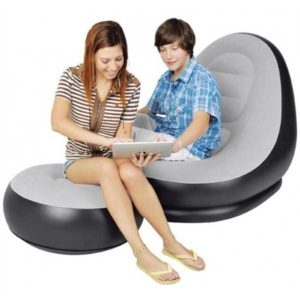 Inflatable Sofa with Foot Rest